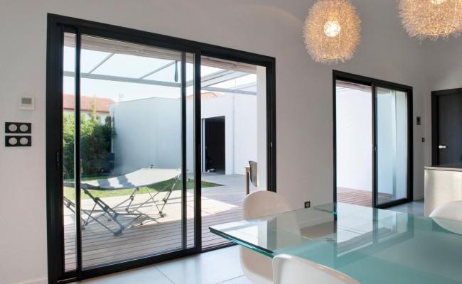 Menuiserie Aluminium – Exemple de Réalisation – Villa Brusque, Biarritz