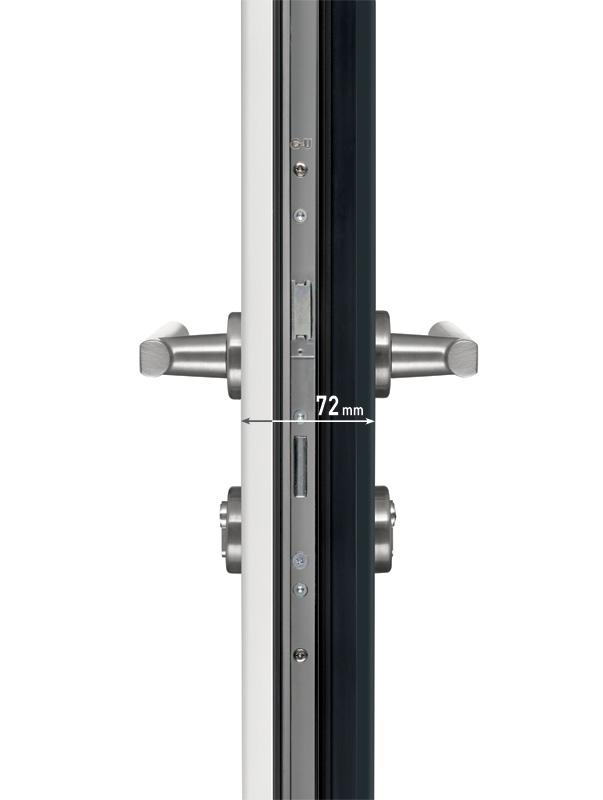 Porte d39entree aluminium les masters menuisiers for Porte de garage coulissante jumelé avec porte paliere blindee