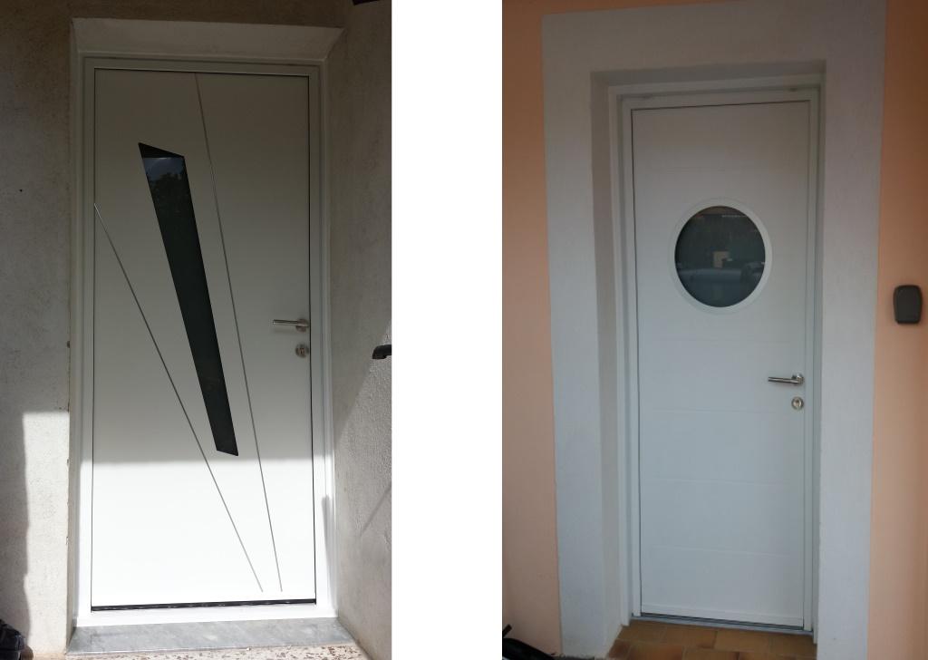 fourniture-pose-porte-entree-aluminium - les masters menuisiers toulon